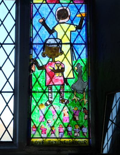 Stained Glass by local children